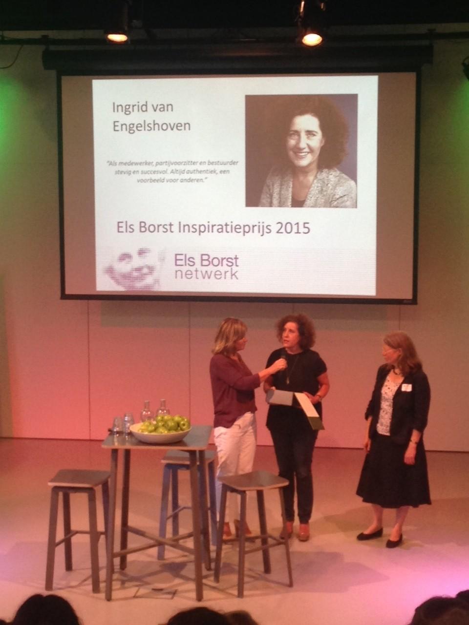 Ingrid van Engelshoven wint eerste Els Borst Netwerk Inspiratieprijs - Onze stad